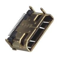 Quality Computer Pin Connectors Mini HDMI 19P Right Angle & SMT LCP Black UL94V-0 wholesale