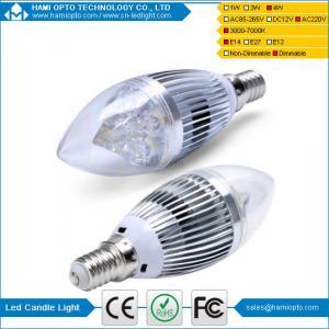 China BridgeLux 4W dimmable Led Candle Bulb E14 E27 Led Lamps 80 CRI on sale