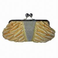 Buy cheap Evening Bag, Made of Satin and Diamond, OEM Orders are Welcome from wholesalers