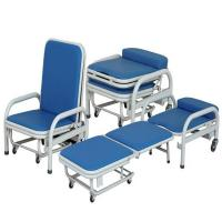 Quality Cold Rolled Steel Hospital Waiting Area Chairs Folding Accompany Chair Space Saving wholesale