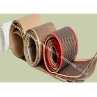 Quality PTFE Coated Fiberglass Conveyor Dryer Belts Plain Weave In 4mm x 4mm Mesh Size wholesale