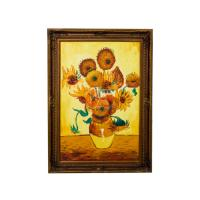 China Apartment / Hotel Decorative Stretched Modern oil painting pictures of flowers on sale