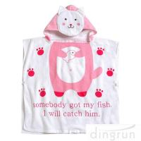 Quality OEM Super Soft Personalized Cotton Hooded Poncho Towels Eco - Friendly wholesale