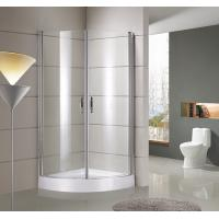 Cheap round / sector Corner Shower Enclosures Tempered  glass Material Magnet lock strip for sale