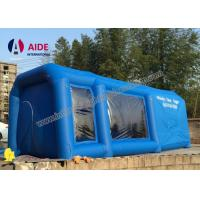 Buy cheap Mobile Used Inflatable Paint Booth , Gray Environmental Car Painting Tent from wholesalers