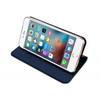 Cheap Slim Iphone Flip Cover Dark Blue , Iphone 5 Leather Case Magnet Kickstand for sale