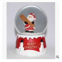 Quality New creative promotion gift christmas santa clause resin led snow glass ball event supplie wholesale