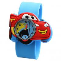 Quality Lovely Cute Silicone Quartz Kids Watch With Car Shaped Dial Customized Logo wholesale