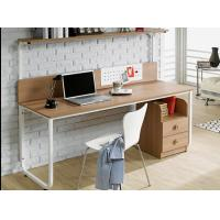 Buy cheap Table type household double person Computer table, bookshelf combination table from wholesalers