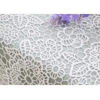 China Wedding Dresses Water Soluble Lace Fabric With Chemical Polyester Floral Lace on sale
