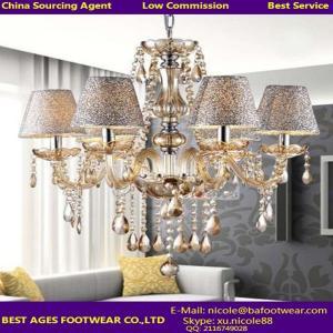 China New Modern K9 Crystal Chandelier Ceiling light LED Pendant Lamp Fixture Lighting on sale