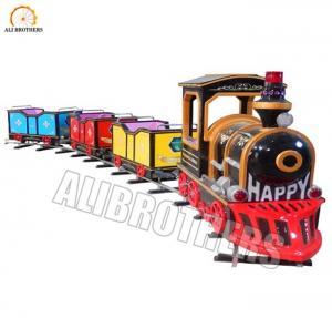 Quality 4m * 16m Space Size Amusement Train Rides Kiddie Vintage Track Train 1000w Power wholesale