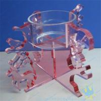 Quality CH (18) Clear Acrylic Candle Holder With Acrylic Stand wholesale