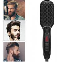 China Men Beard Simply Straightener LCD Display Ceramic Electric Hair Styler Fast Straightening Comb Men hair styling tools on sale
