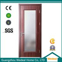 Quality Factory Supply Red Wood Interior Panel Doors with Glass Panel wholesale