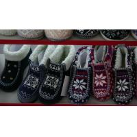 Quality Custom Womens Knitted Boots / Wool Knitting Winter Ankle Boots wholesale