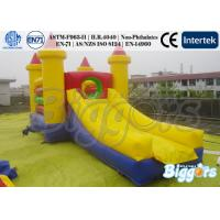 China Rainbow Inflatable Combo Trampoline Slide Inflatable Slide With Obscale on sale