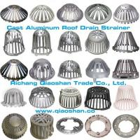 Quality Sand Casting and Die- Casting Aluminum Heavy Duty Roof Drain Dome Strainer and Clamping Ring For Roof Drainage wholesale