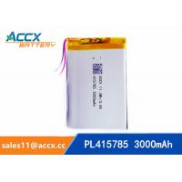 Quality pl415785 3.7V rechargeable lipo battery  with 3000mAh for GPS, beauty apparatus, Power Bank, Led Light wholesale