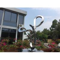 Quality Abstract Tall Garden Ornaments Statues Handmade Polished Metal Long Life wholesale