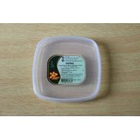 Food box / container Square plastic PE lids with custom printing sticker / tag