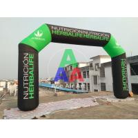 Quality 8m long 5m high good quality oxford fabric  inflatable advertising arch with logo for sale wholesale