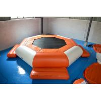 Quality 0.9mm PVC Tarpaulin Inflatable Floating Water Trampoline wholesale