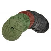 Buy cheap Round Shape Diamond Polishing Pads 4500 RPM Neon Green 5 Inch Hook And Loop from wholesalers