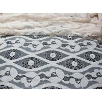 Cheap Soft Ivory Cotton Nylon Voile Lace Fabric , Floral Lace Mesh Fabric SYD-0012 for sale