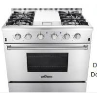 China Professional 3 Burners Stove Top Gas Electric Oven With  2 Halogen Lights on sale