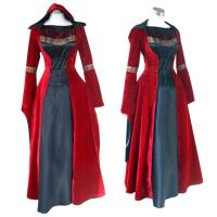 Quality Medieval Dress Wholesale XXS to XXXL Red Gothic Renaissance Medieval Victorian Evening Dress Costume Cosplay wholesale