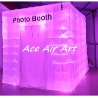 Quality customize wonderful lighting inflatable cabin hire photo booth for wedding party event decoration wholesale