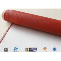 Quality E Glass Silicone Coated Fiberglass Cloth 260℃ Heat Resistant 8HS 1550mm Width wholesale