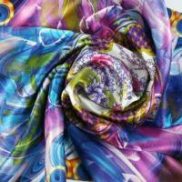 China Women's Printed Silk Scarf in Fashion Design, Measures 53 x 53cm, 90 x 90cm on sale