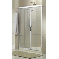 China Clear Glass Shower Stall Sliding Glass Doors Chromed Aluminum Profiles CSI Certification on sale