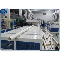 Quality 75~250mm PVC Pipe Manufacturing Machine With Siemens PLC Electric Control wholesale