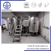 China Stainless Steel Craft Beer Brewing Equipment For Home Restaurant Pub 200L - 5000L on sale