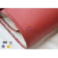 Quality 700Gsm 0.7mm Silicone Coated High Silica Fabric 800℃ Electrical Insulation wholesale
