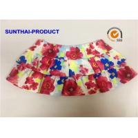 Quality Elastic Waistband Little Girl Summer Dresses 2 Layers Ruffle Skirt With Panty wholesale