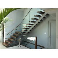 Quality Cast iron beam straight staircase wooden step covers wholesale