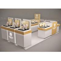 Cheap Small Space Retail Shopping Mall Kiosk / Jewellery Display Cabinets Stable Structure for sale