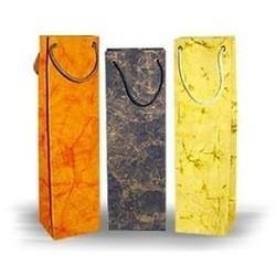 China custom printed wine bottle paper bags on sale