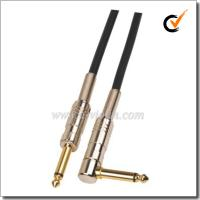 China Spiral 6mm PVC Black Guitar Instrument Cable (AL-G008) on sale