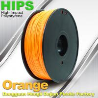 Quality Markerbot , Cubify  3D Printing Materials HIPS Filament 1.75mm / 3.0mm Orange Color wholesale