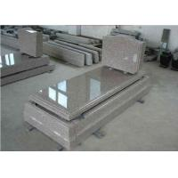 Quality Brown Granite Memorial Headstones European Style Customized Size / Surface wholesale