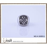 Quality 2012 hot selling 9 #, 21.1g 316l stainless steel cross ring H-JK0011 wholesale