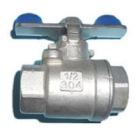 China 2PC Stainless Steel Ball Valve in Butterfly Handle on sale
