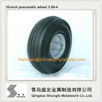 China 10 inch pneumatic rubber wheel 4.10/3.50-4, air filled rubber wheel 3.50-4, pneumatic wheel 3.50-4 on sale