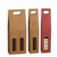 Quality Wine Gift Boxes with Glossy Varnishing Finish, OEM Orders Welcomed wholesale