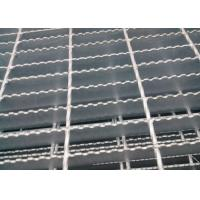 Quality Welded Serrated Steel Bar Grating , Various Size Heavy Duty Bar Grating wholesale